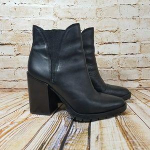 Sam Edelman Chunk Block Heel Black Bootie